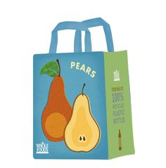 Whole Foods Market, Recycle Plastic Bottles, Reusable Bags, Whole Food Recipes, Recycling, Recycled Plastic Bottles, Upcycle