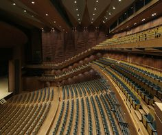 Santo Muses, Japan|上田市交流文化芸術センター「サントミューゼ」|Auditorium,Theater, Music, Concert Minimalist Architecture, Ancient Architecture, Landscape Architecture, Great Buildings And Structures, Modern Buildings, Auditorium Design, Dubai Skyscraper, Hall Design, Geodesic Dome