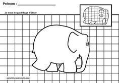Letter E is for Elephant Preschool Craft featuring Elmer