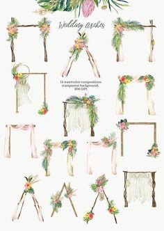 Diy Wedding Backdrop, Outdoor Wedding Decorations, Diy Wedding Arch Flowers, Wild Flower Wedding, Small Wedding Receptions, Watercolor Wedding, Flower Frame, Flower Wall, Dream Wedding