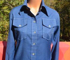 vintage 60s women's blouse lady WRANGLER western by skippyhaha