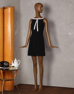 DRESS WITH CRYSTAL-MESH BOW - Short dresses - Dolce&Gabbana - Summer 2014