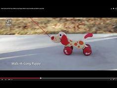 #HAPETOYS PULL TOY * WALK A LONG PUPPY *CROCODILE * SNAIL - YouTube