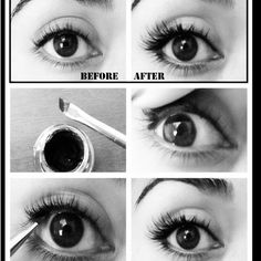 """Simple tip. Apply eye liner to your top water line for an """"invisible"""" eyeliner. To open your eyes up more apply accent lashes from #salonperfect."""