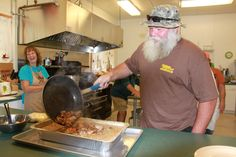 NHFG: Barry Camp Wild Game Weekend - preparation of pot pie