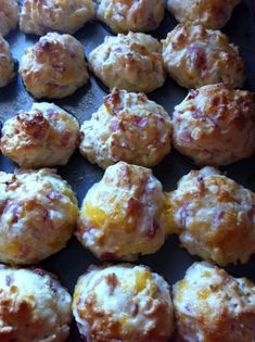 Ham & Cheese Muffins. Made them for supper and everyone devoured them. Made about 3 dozen mini and we ate 2 dozen at one meal.
