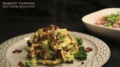 Spaghetti carbonara med kylling og broccoli (LCHF)