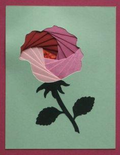 Flower iris folding