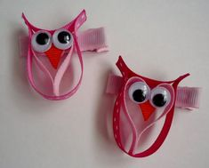 sculpted hairbows  | Owl ribbon sculpture | Hair Bows