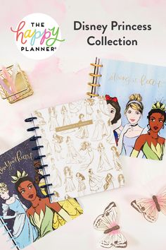 The Happy Planner adds magic to daily tasks with the Disney Princess Collection of your dreams. Get inspired with new planners, stickers, and accessories featuring Disney artwork and motivational quotes. Planner Tabs, Planner Dividers, Planner Organization, Aniversary Ideas, Original Disney Princesses, Stationery Brands, Hand Quotes, Im A Princess, Literature Quotes