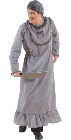 Psycho Großmutter Halloween-Herrenkostüm grau - Artikelnummer: 200690000 - ab 32.99 EURO - bei www.racheshop.de!