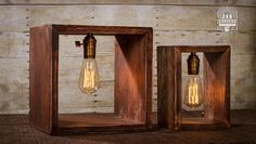 Caja de sombra Edison lámpara Lámpara de mesa Lámpara de
