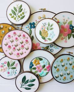 How incredibly gorgeous are these amazing embroidered hoops.