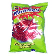 KP Meanies. Delicious picked onion flavoured corn snacks. #www.ansiopa.ie
