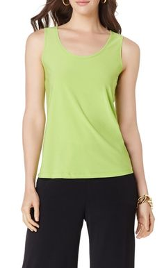 We're loving bright tanks for spring! Especially when you get two-in--one! Which color combo is your favorite?
