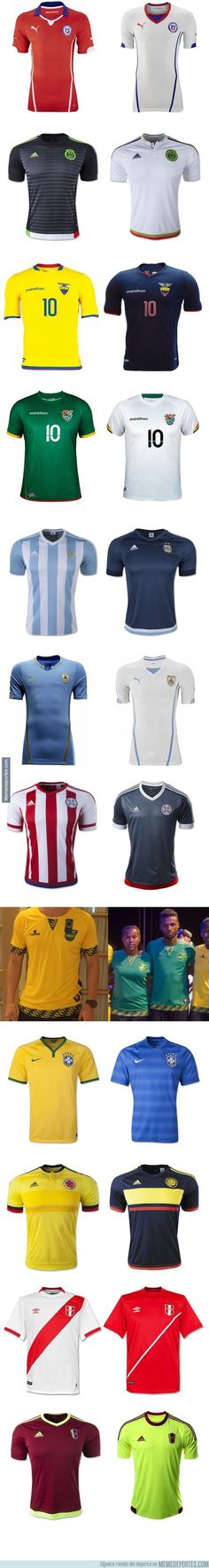 0401e1e79a79a 573069 - Los uniformes de las 12 Selecciones para la Copa América Chile 2015