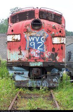 RailPictures.Net Photo: WVC 92 West Virginia Central Railroad EMD E8(A) at Belington, West Virginia by Zach Marlow