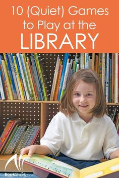 10 (Quiet) Games to Play at the Library Library Games, Library Science, Kids Library, Library Activities, Library Books, Library Ideas, Library Events, Holiday Activities, Stem Activities