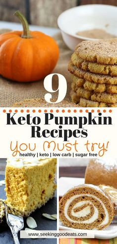 Low Carb Recipes 9 keto pumpkin recipes that are all easy and healthy pumpkin recipes! These are so delicious you'll never know they're a part of the ketogenic diet or for those wanting healthy, low carb, sugar free pumpkin recipes! Keto Foods, Keto Snacks, Ketogenic Foods, Keto Fat, Low Carb Keto, Low Carb Desserts, Low Carb Recipes, Tofu Recipes, Healthy Pumpkin Recipes
