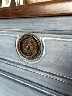 Liming wax over chalk paint - paint, seal, liming wax.