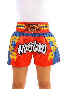 Farabi Muay Thai Short Tiger Embroidered MMA Kickboxing Trunk Silk Fabric Short