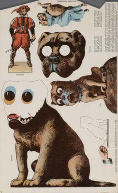 Bouwplaat-Van-een Theater dog paper doll 1