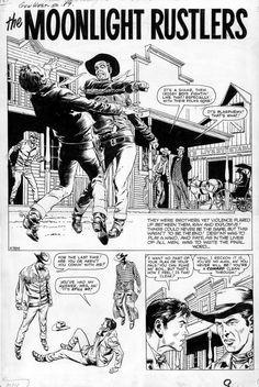 Comic Books Art, Comic Art, Book Art, Comic Layout, Comic Book Panels, Black White Art, Comic Strips, Westerns, Folk