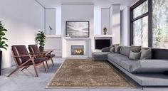 Louis De Poortere Fading World Rug in Black Pepper.   The rug is hand finished and distressed to ensure a truly historic vintage look and feel.