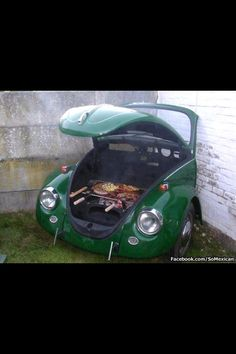 Make a Grill using the front part of a car