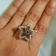"""I just discovered this while shopping on Poshmark: TURKISH 925 SILVER & BRONZE STARFISH RING 8. Check it out! Price: $35 Size: """"8-8.2"""""""