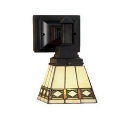 5-Inch Diamond Mission One-Light Wall Sconce