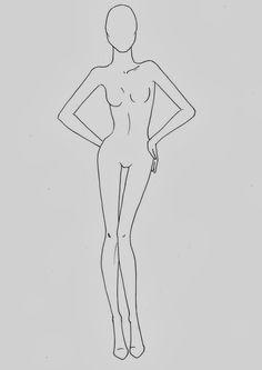 Fashion croquis templates - corpi figurini base moda 2