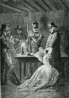 """Fantine imploring Javert"" Gustave Brion"