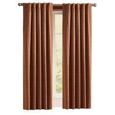 Style Selections�Roberta 84-in L Solid Brick Thermal Back Tab Curtain Panel