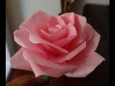 Cara Mudah Membuat Mawar dari Kertas Tisu / Krep - YouTube