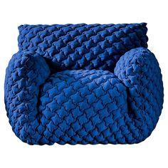 1stdibs Fabric, Foam, Feathers Smooth Lounge Italian Armchair
