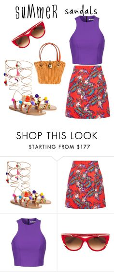 """""""the charmed life"""" by vkrene on Polyvore featuring Elina Linardaki, House of Holland, T By Alexander Wang, Thierry Lasry, Dolce&Gabbana and summersandals"""