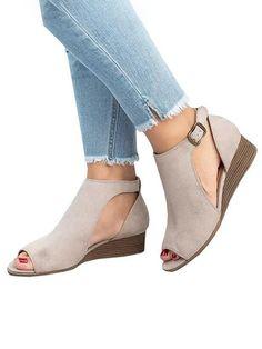 9ab87415bb Style: Casual Heel Type: Wedge Closure Type: Bucke Material: PU Upper Height