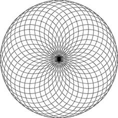 torus mandala - focus on the center and you will see all kinds of amazing things - optical illusions but just let them happen and evolve. as you focus, you stop thinking of other things...