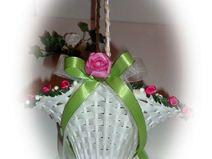 Hochzeit Pink-Grün Blumenkorb