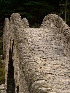Beautiful stone bridge has a unique wave design.