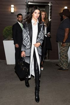 Enter Kendall Jenner's excellent transitional outfit.