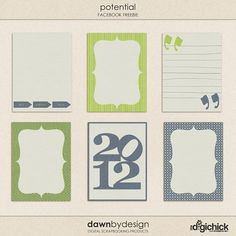Free Dawn by Design 3x4 Potential Printable Journal Cards