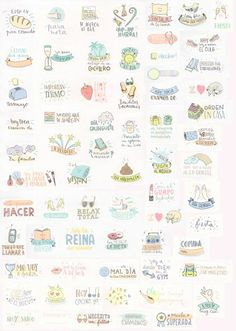 Stickers for your planner. Pegatinas para tu agenda. Scrap, scrapbooking, diy, mr wonderful. Agenda mr wonderful 2015 2016