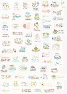Stickers for your planner. Pegatinas para tu agenda. Scrap, scrapbooking, diy, mr wonderful. Agenda mr wonderful 2015 2016                                                                                                                                                      Más