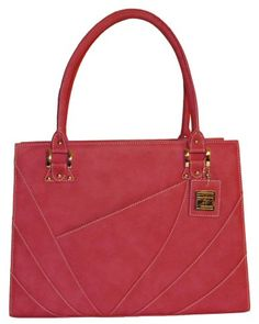 The Workaholic shoulder tote in Amaranth Rose, by Taryn Zhang New York. Check out TZ's collection of women's briefcases at tarynzhang.com.