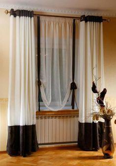 комбинированные шторы на люверсах фото