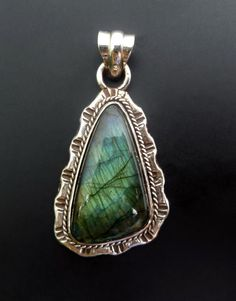 Handmade Sterling Silver and Labrodorite Statement by fishsilver, $80.00