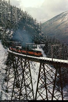 RailPictures.Net Photo: MR 285 Milwaukee Road EMD GP9 at Cedar Falls, Washington by Ralph Hintze