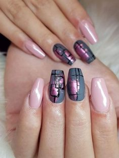 Impressionistic Nail trend 2019 for lworking womens - - Nagelkunst - nagellack Fall Nail Art Designs, Beautiful Nail Designs, Acrylic Nail Designs, Acrylic Nails, Gel Nails, Nail Nail, Solid Color Nails, Nail Colors, Purple Colors